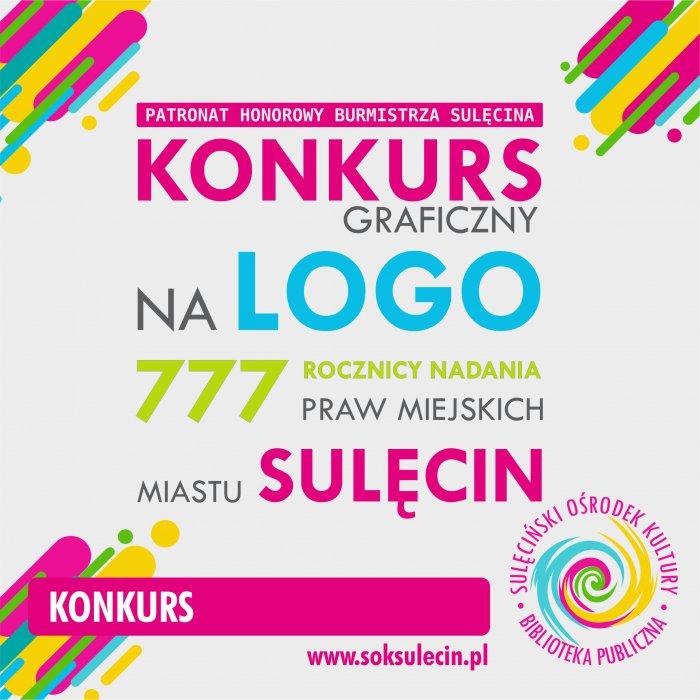 Konkurs na logo obchodów 777 rocznicy nadania praw miejskich Sulęcinowi
