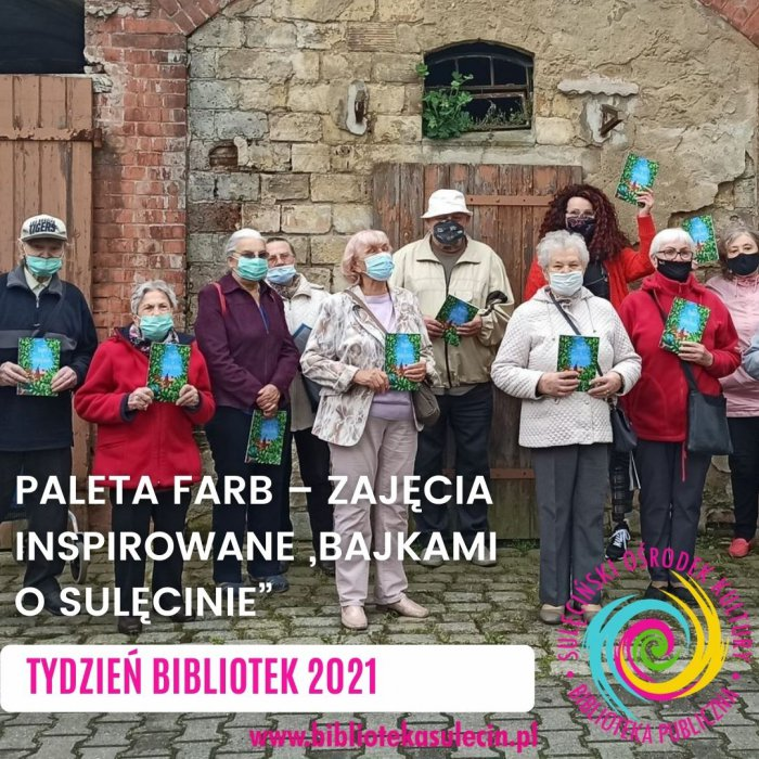 """Paleta farb - zajęcia inspirowane """"Bajkami o Sulęcinie"""" - Tydzień Bibliotek 2021"""