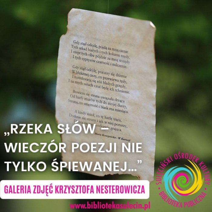 """""""Rzeka słów – wieczór poezji nie tylko śpiewanej…"""" w obiektywie Krzysztofa Nesterowicza"""