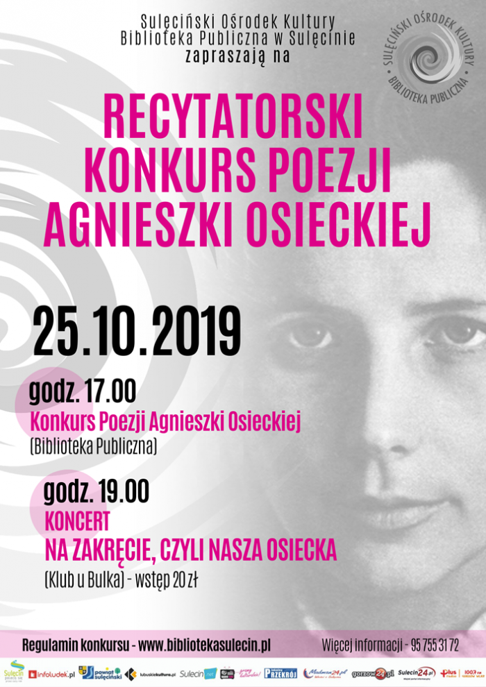 Konkurs Recytatorski Poezji Agnieszki Osieckiej