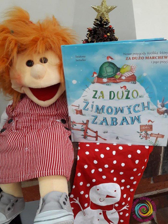 """Czytanie na przedszkolnym dywanie - """"Za dużo zimowych zabaw"""""""